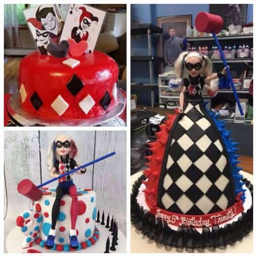 festa da arlequina bolo temático