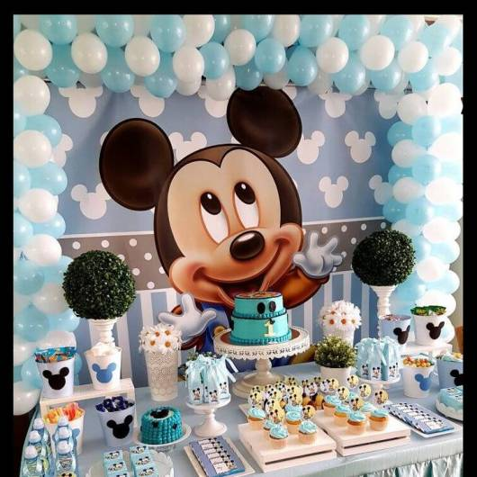 Painel decorativo do Mickey Baby.
