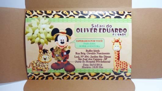convite festa mickey safari