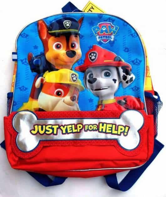 mochila Patrulha Canina para usar nas costas