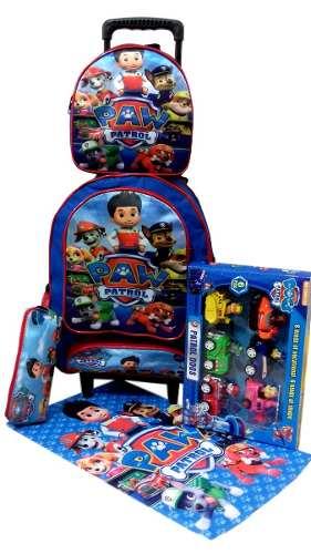 kit de mochila Patrulha Canina e brinquedo