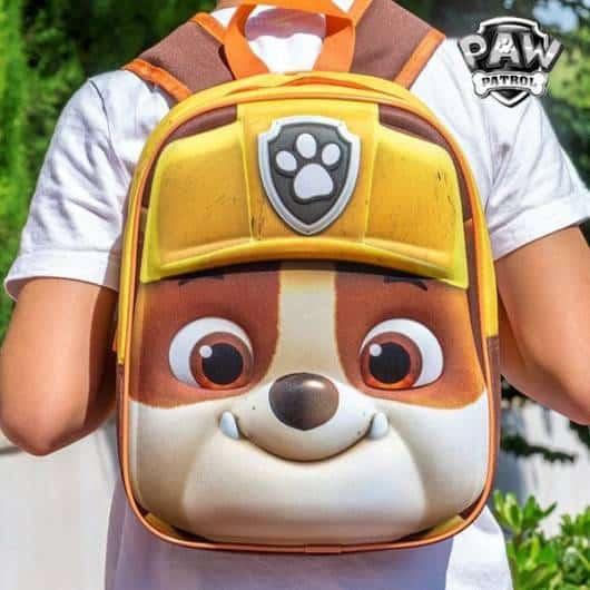 mochila patrulha canina 3D de costas
