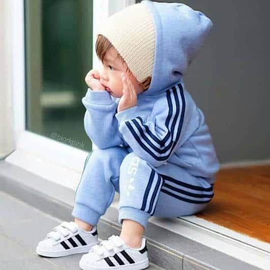 look Adidas infantil