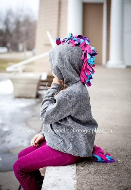 moletom de unicórnio menina
