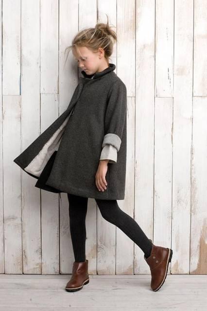 look infantil com bota marrom