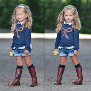 look infantil bota com short