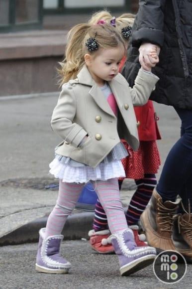look infantil com casaco