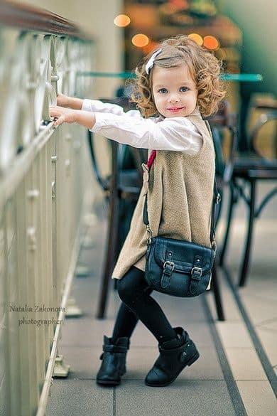 look infantil bota com vestido
