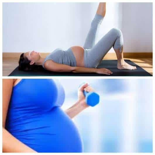 Mães tentando emagrecer na gravidez.