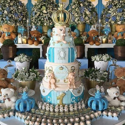 Festa príncipe de ursinho.