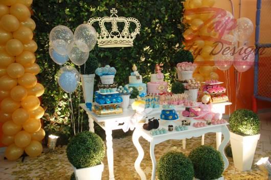 Festa príncipe e princesa.