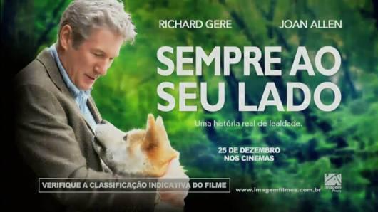 """Flyer do filme """"Sempre ao seu lado""""."""