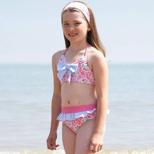 look infantil feminino moda praia biquíni