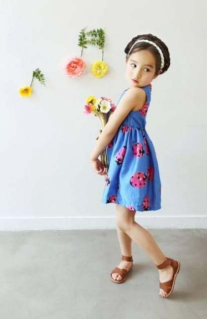 look infantil feminino com estampa de joaninha