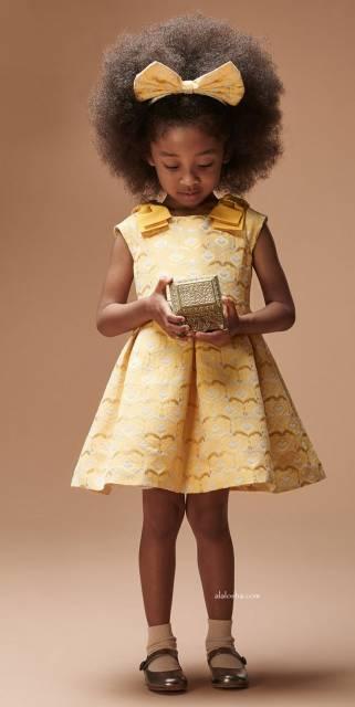 look infantil feminino para casamento vestido amarelo