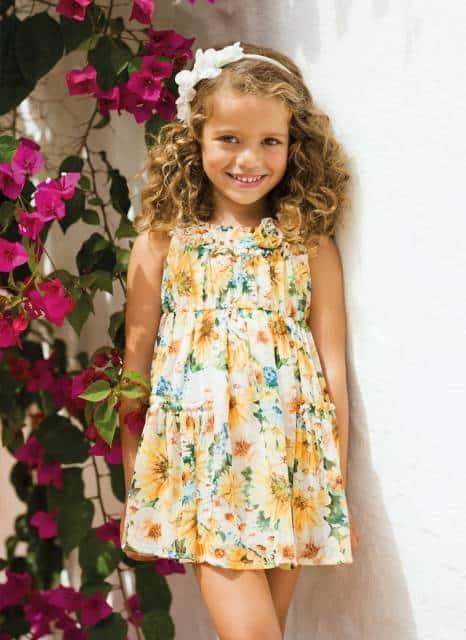 look infantil feminino vestidocom estampa floral