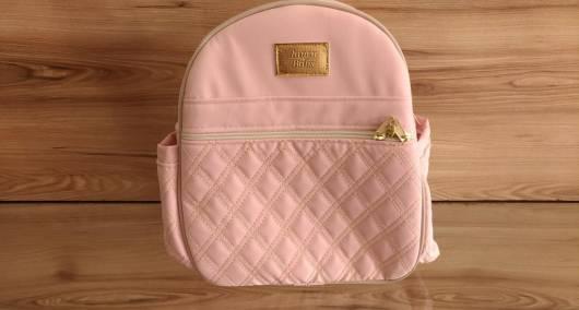 mochila rosa simples