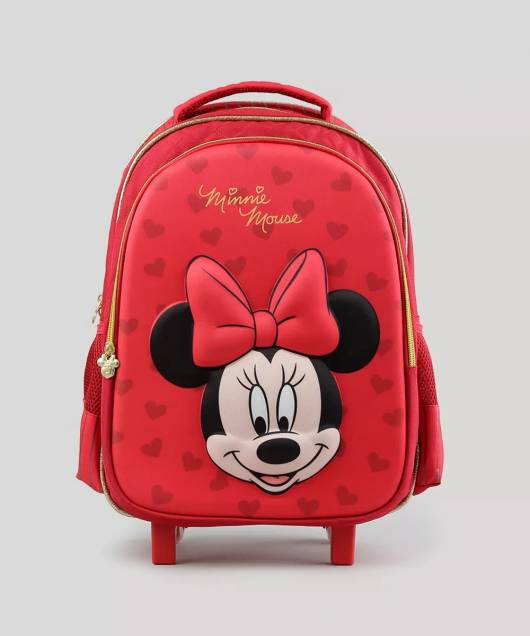 mochila carrinho Minnie