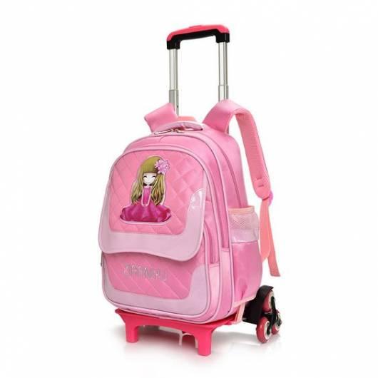mochila carrinho rosa