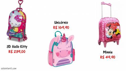 preços e onde comprar modelos de mochilas
