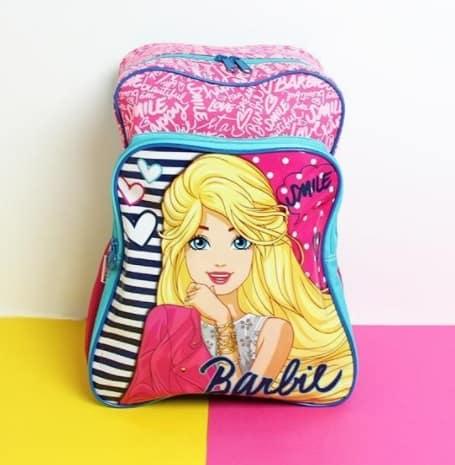 mochila de costas da Barbie