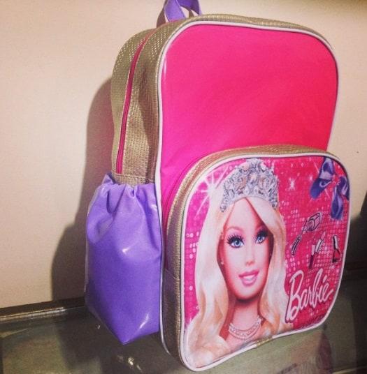 mochila rosa Barbie