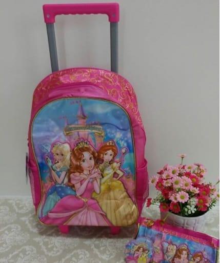 mochila rosa princesas