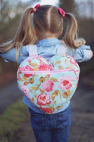 mochila coração