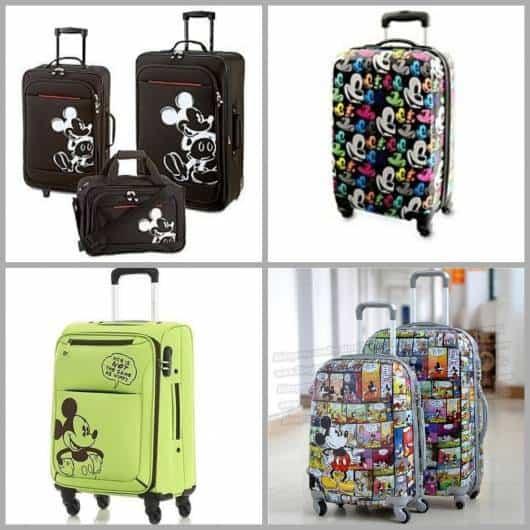 Diversos tipos de mochilas de rodinha.