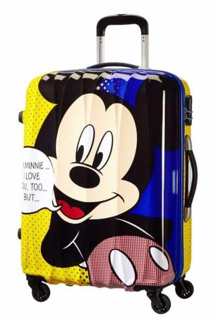 Mochila de rodinha Mickey.