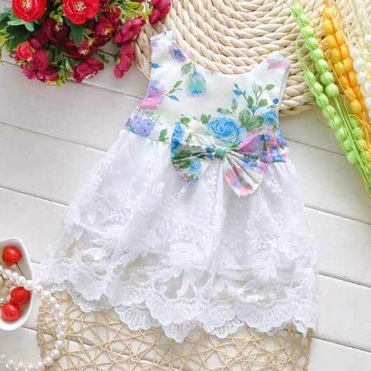 Vestido branco.