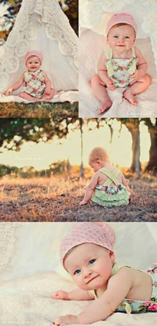 Vestido para bebês.