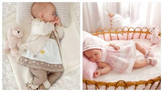 Vestido para recém-nascido.
