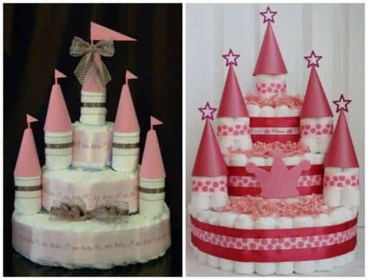 bolo de fraldas de castelo