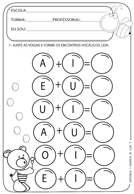 atividade de vogais
