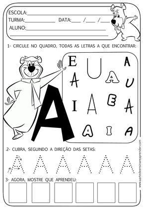 atividade letra A