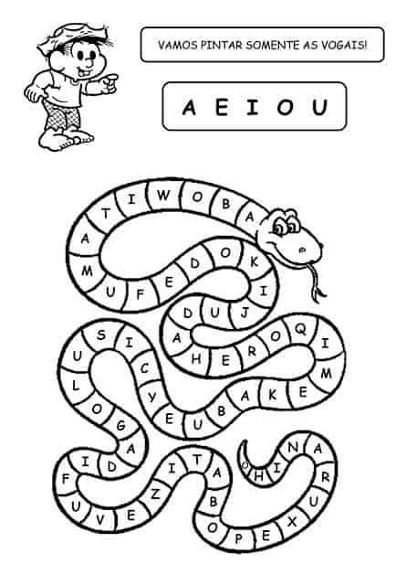 atividade simples vogais