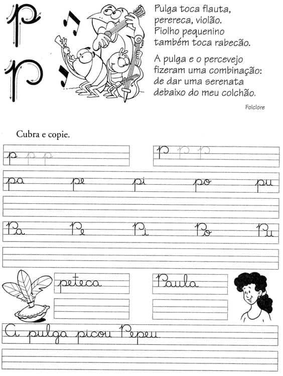 atividade letra P