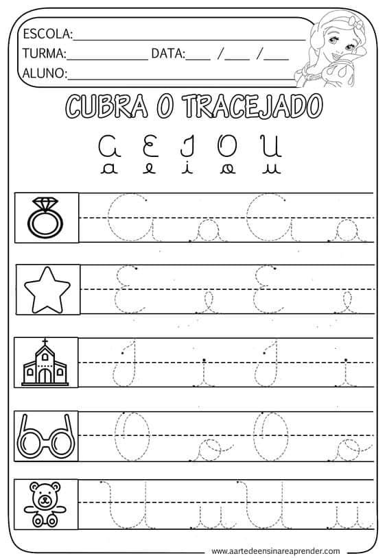 atividade aprender vogais maiúsculas