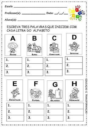 atividade letras