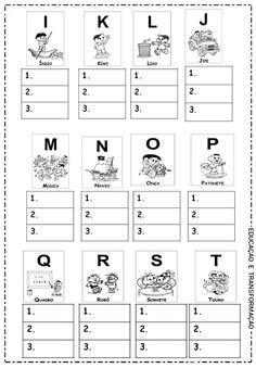 atividade letras alfabeto