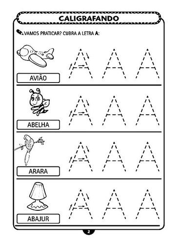 aprendendo letra A