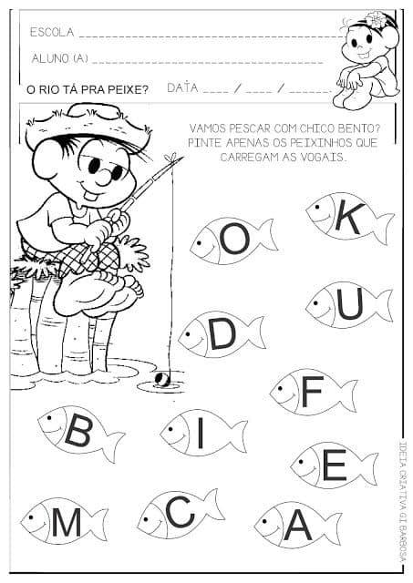 desenho vogais