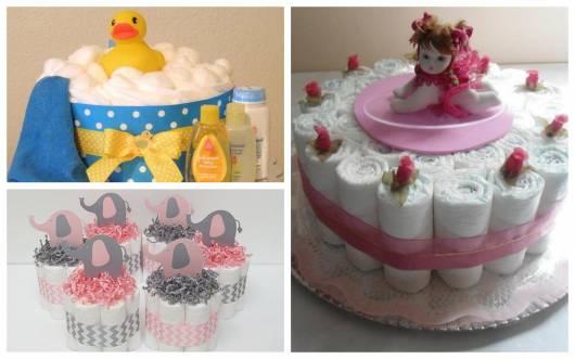dicas de como fazer bolo de fraldas simples e pequeno