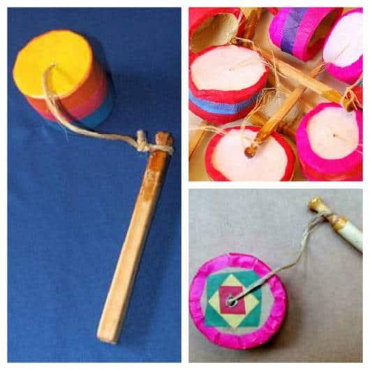 Brinquedos Folclóricos com madeira