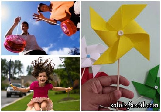 Brinquedos Folclóricos corda, ioiô e catavento