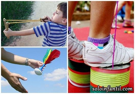 Brinquedos Folclóricos estilingue, pé de lata e petéca