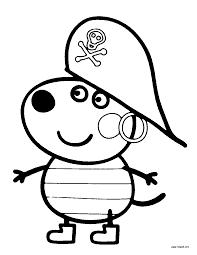 desenhos para colorir Peppa Pig cão