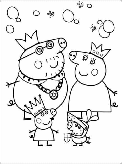 desenhos para colorir Peppa Pig princesa