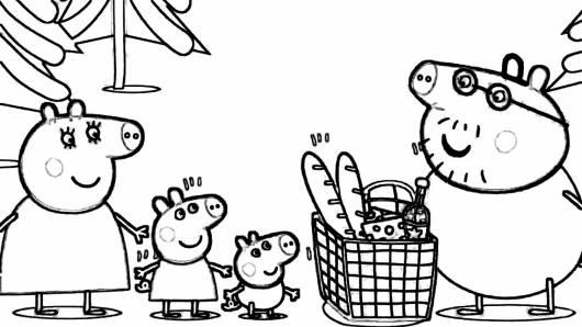 desenhos para colorir Peppa Pig no mercado